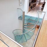 Prima prefabriceerde het BinnenOntwerp van de Trede van het Glas van het Aluminium Spiraalvormige