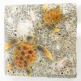 Nuevo color de las estatuas de animales marinos la decoración de la luz de la tortuga de resina
