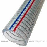 Manguito reforzado espiral transparente del alambre de acero del PVC