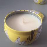 Kundenspezifischer runder Zinn-Kasten-duftende Kerze
