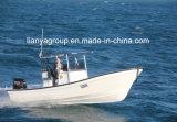Crogiolo di Panga di pesca della vetroresina di Liya 7.6m con i motori esterni