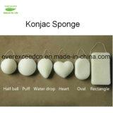 100% naturel Konjac éponge de nettoyage du visage sous étiquette privée