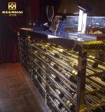 Пользовательские низкое из нержавеющей стали домашний бар винный шкаф