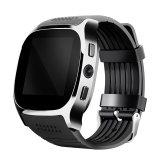SIMのカードスロット0.3 MPのカメラが付いているT8 Bluetoothのスマートな腕時計