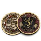 Commerce de gros logo personnalisé bon marché vierge en métal argenté du zodiaque chinois Souvenir Coin