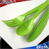 Couverts en plastique remplaçables Jx155 de Bidegradable de poids moyen