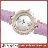 OEMのダイヤモンドの腕時計、Leatherstrapの本物の腕時計、方法レディース・ウォッチ