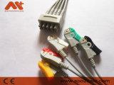 GEは対E9008LC ECGスナップまたはクリップIECのリード線5導く