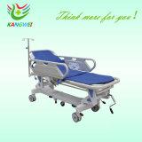 Carrello medico della base dell'ospedale di caduta e di aumento del carrello idraulico della barella (Slv-B4305)