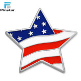 星形の米国旗の愛国心が強い折りえりPin