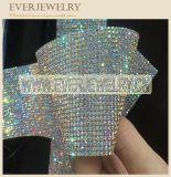 Großhandelsvielzahl färbt Kristallineinander greifen-Blattrhinestone-Diamant-Blatt