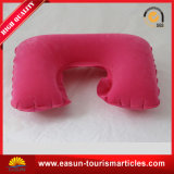 A melhor forma de U plástico flocados pescoço patente Almofadas insufláveis