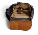 Шальной мальчик кожи лошади укладывает рюкзак мешки Backpack компьтер-книжки девушки холстины (RS-82064K)