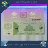 L'estampage à chaud hologramme personnalisé Anti-Counterfeiting UV Impression de livret