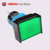 16mmのプラスチックによって照らされる防水瞬時の押しボタンスイッチ