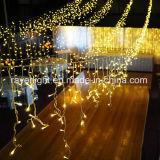 Van het LEIDENE van Kerstmis Licht van de Fee het Openlucht Gele Huwelijk van de Ijskegel Lichte