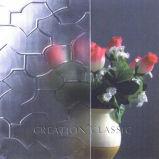 4mm freier Raum Floar Muster-Glas, farbiges Figuer Glascer ISP9001