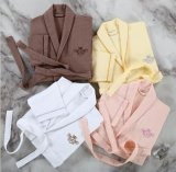 Bathrobes algodão Terry do hotel/os Home/da mulher/par relativos à promoção de veludo/pijamas/Nightwear/roupa de noite