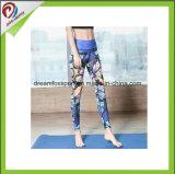Legging apertado respirável de secagem rápido feito sob encomenda por atacado para a ioga