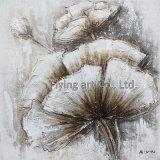 Peinture moderne d'art de pétrole de fleur