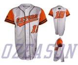 Base-ball orange Jersey de type de rue de l'impression fait sur commande le plus neuf de modèle