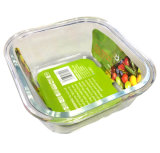 1050ml de vierkante half Verdeelde Hittebestendige Doos 21115D2 van de Lunch van de Container van de Lucht van het Glas Strakke
