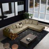 Meubles réglés de salle de séjour de sofa italien de tissu