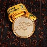 銀製の終わりのCusotmizedのスポーツメダルが付いている工場3D円形浮彫り