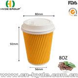 Qualität deckte Papiercup des gewölbten Kaffee-8oz ab