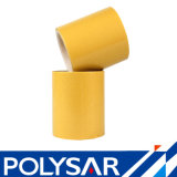 100 micron di nastro tagliante dell'animale domestico con il documento di pergamina sottile giallo