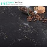 Laje de Pedra quartzo preto clássico com veias de ouro para a bancada de cozinha
