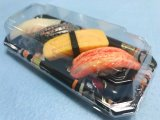 Одноразовые пластиковые для хранения суши пластину контейнер суши в салоне с Anti-Fog крышки багажника