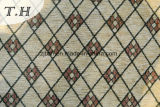 Hellgelbes Diamant-Chenille-Jacquardwebstuhl-Sofa-Gewebe-Muster (FTH31714)
