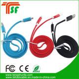 Красочные складной светодиодный индикатор зарядки данных USB-кабель от воздействий молнии для iPhone