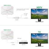 Antena de interior fina de papel del VHF TV de la frecuencia ultraelevada de la fábrica de China con el amplificador