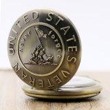 El bronce reloj de bolsillo con Collar Cadena