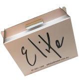 علامة تجاريّة طبع لون يغضّن صندوق مع مقبض