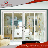 Главные ворота дизайн двойной алюминия из закаленного стекла боковой сдвижной двери