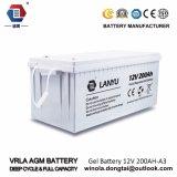 Система батареи 12V 200ah свинцовокислотная Baterias геля солнечная/Lanyu200A006