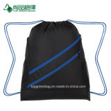 Commerce de gros économique Personnaliser 2 poches à fermeture éclair avant 2 poches en maille côté balayez vers la coulisse Pack sac de sport