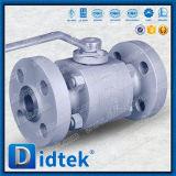 Válvula de esfera de alta pressão da flutuação do aço inoxidável CF2 da alavanca de Didtek