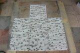 Gelegentliche Streifen-Glas-und Aluminium-Mosaik-Fliese