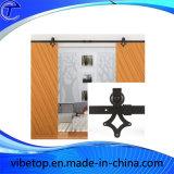 Het houten Roestvrij staal van de Hardware van de Staldeur van het Glas Glijdende