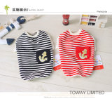 Vêtements d'été de crabot de T-shirt d'animal familier de marin de modèle de pistes