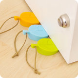 Coloré en forme de feuille Creative Baby Hand Safety Silicone Door Stopper avec Hang Rope