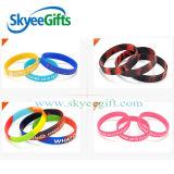 Braccialetto adulto personalizzato del silicone di marchio, Wristband promozionale del silicone