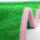 꿰매어진 가장자리 홈 청소 Microfiber 수건 2색조 수건을 두껍게 하십시오 (부엌 또는 차 청소를 위해)