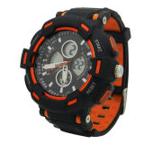 Caso de plástico de borracha Swiss Movement Waterproof LED Decor Watch