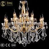 Indicatore luminoso a cristallo dorato del lampadario a bracci di vendita calda