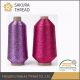 Mhは編むことのための虹色の金属刺繍の糸をタイプする